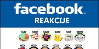 Facebook reakcije