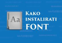 Kako instalirati font