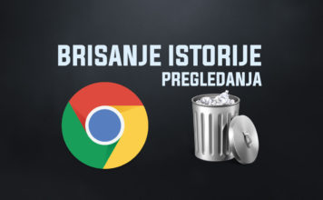 Kako obrisati istoriju pregledanja u Google Chrome