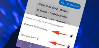 Brisanje poslate poruke na facebook-u